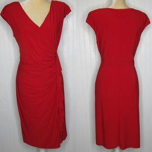 Evan-Picone Black Label Red Dress